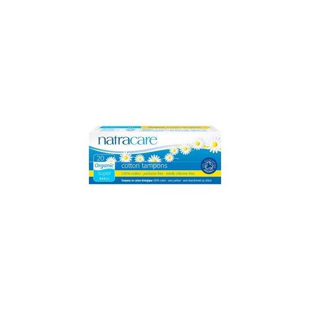 Tampon Super u. indføringshylster - øko - Natracare